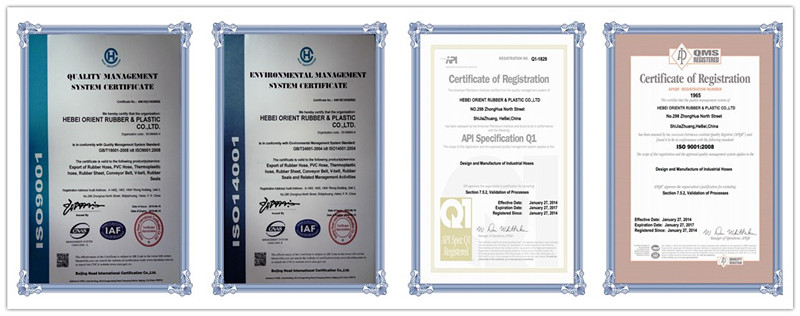 certificates of pressure washer hose